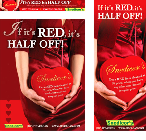 "Snedicor's ""If It's Red"" Promotion marketing materials"