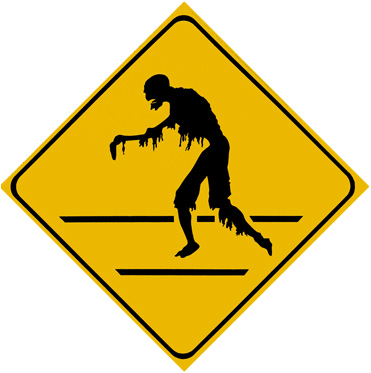 """Zombie Crossing"" sign"