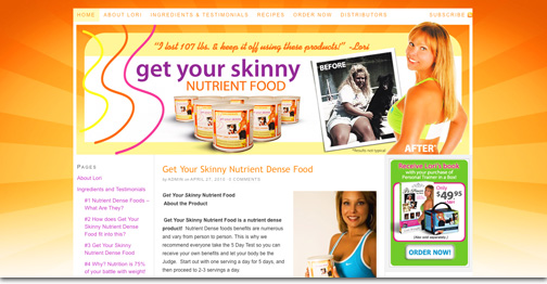 Get Your Skinny Nutrient Food blog site