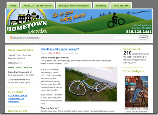 Hometown Bicycles LLC of Brighton, MI