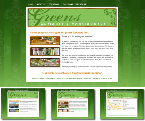 DMT Website Design for Greens Consignment