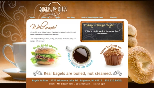 Bagels & Bites website