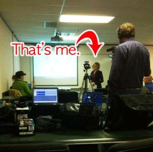Dawn Tomczyk-Bhajan giving a web design presentation